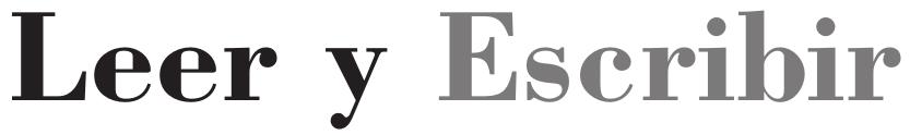 Logo Colección leer y escribir