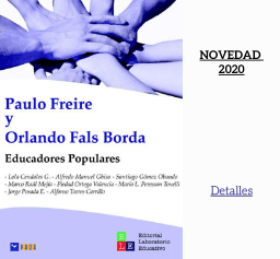 Libro sobre Paulo Freire y Educación Popular